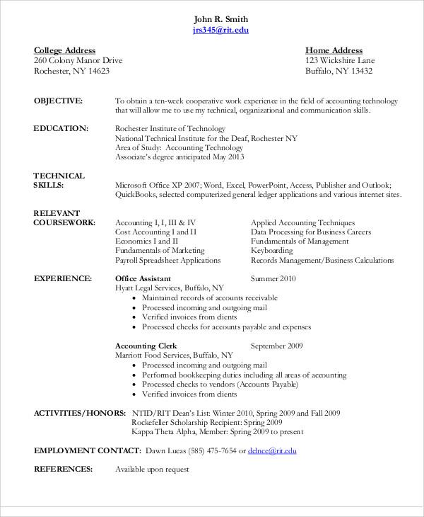 21+ Accountant Resume Templates - PDF, DOC Free  Premium Templates