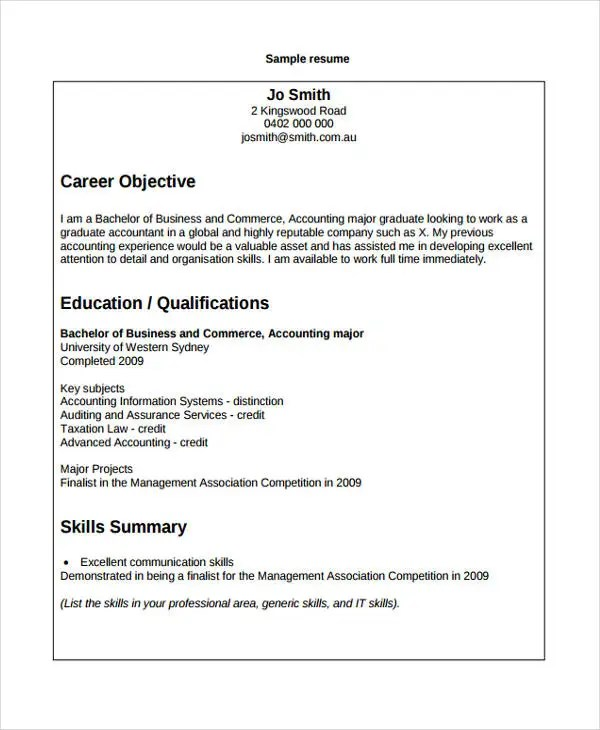 7+ Accounting Curriculum Vitae Templates - PDF, DOC Free  Premium - systems accountant sample resume