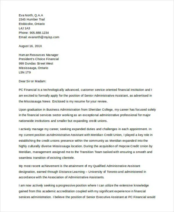 financial services cover letter - Onwebioinnovate
