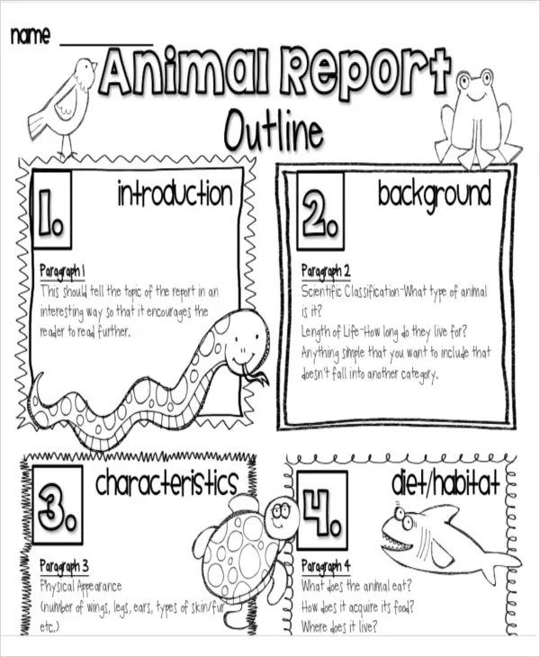 9+ Animal Report Templates - Free Sample, Example Format Download