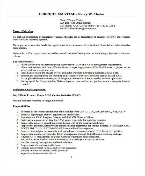 10+ Account Manager Resume Templates, Samples, Examples Format - account manager resume sample