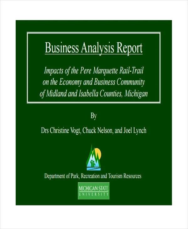 36+ Report Examples Free  Premium Templates - business analysis report