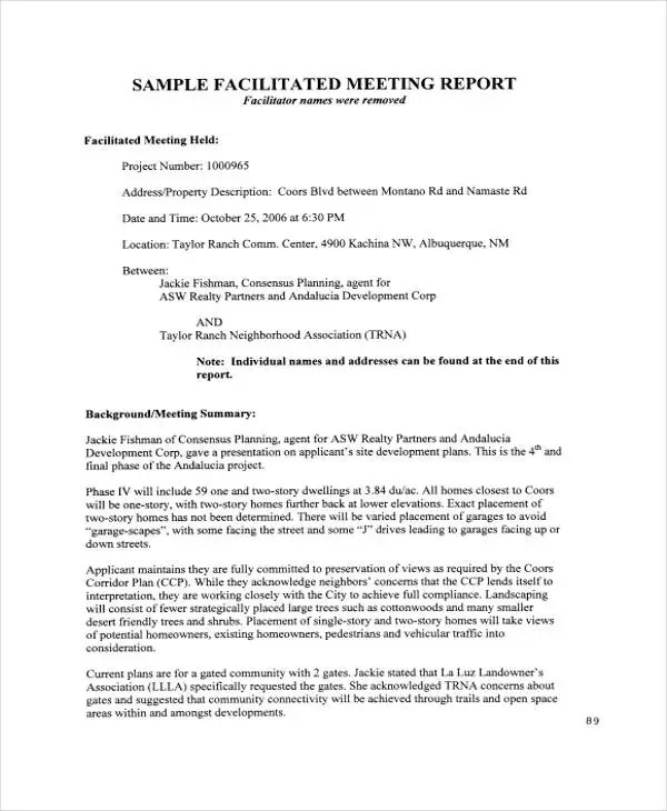 Meeting Report Templates - 12+ Free Word, PDF Format Download Free