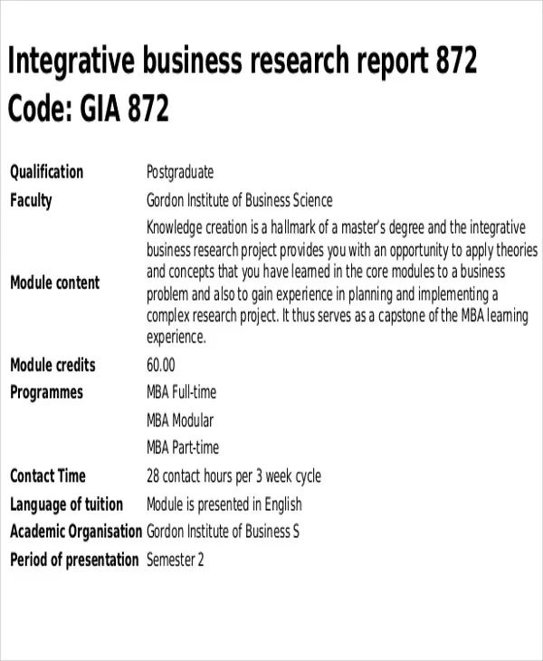 academic report template