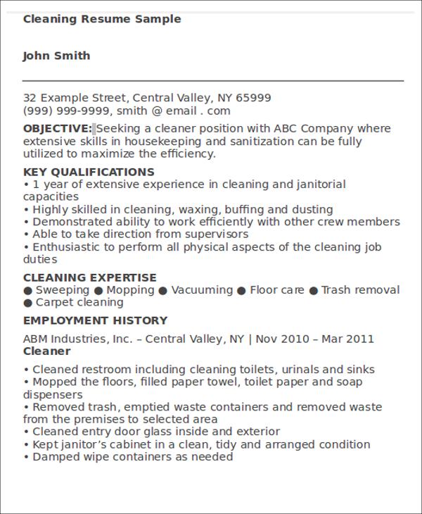 hotel housekeeping resume sample