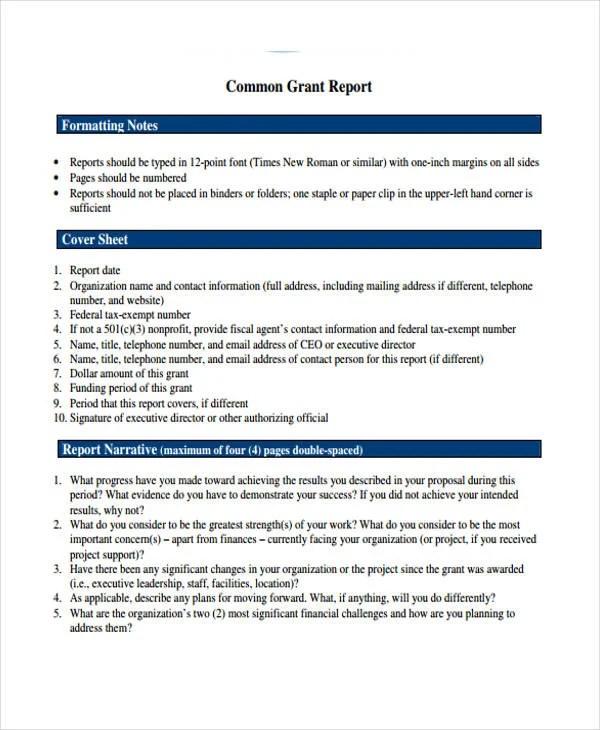 10+ Grant Report Templates Free  Premium Templates