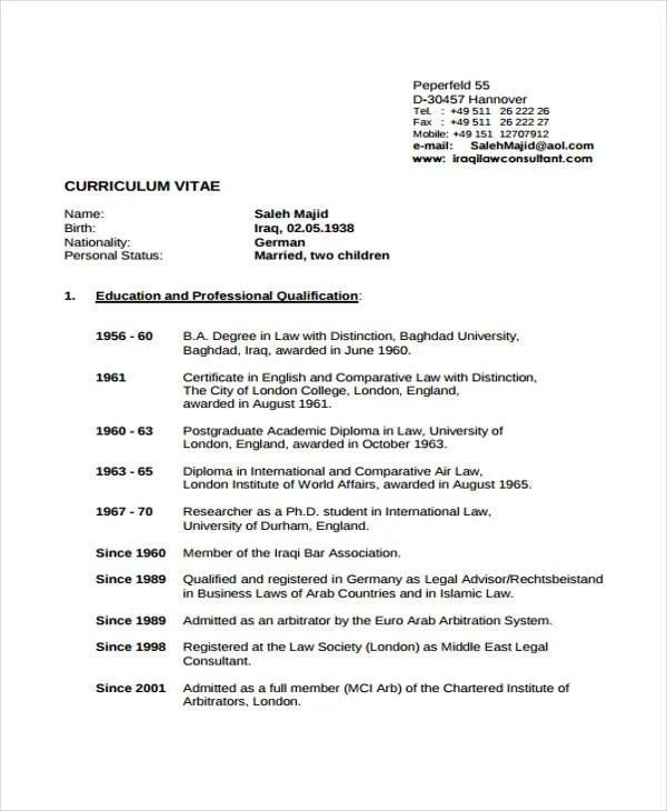 10+ Legal Resume Templates - PDF, DOC Free  Premium Templates - legal consultant resume