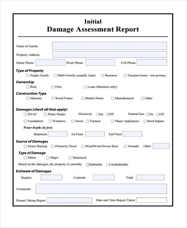 Property Assessment Template Agreement Forms   The Role Of   Sample  Property Assessment
