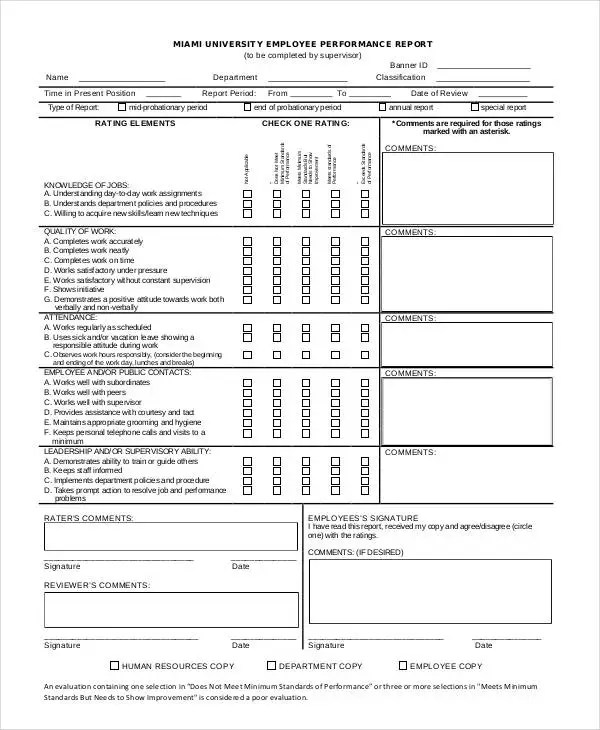 Performance Report Templates - 9+ Free Word, PDF Format Download