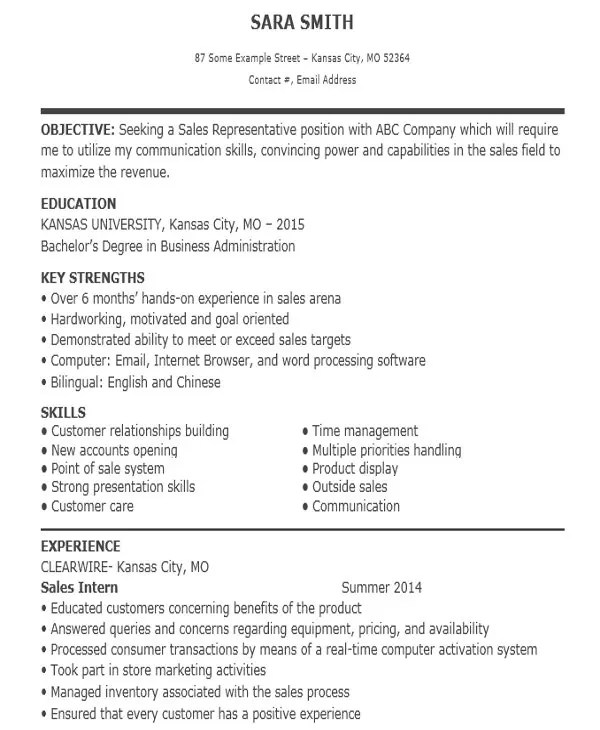 10+ Sample Sales Job Resume Templates - PDF, DOC Free  Premium