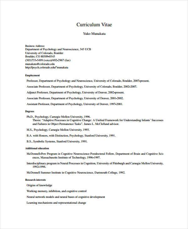9+ Functional Curriculum Vitae Templates - PDF, DOC Free  Premium - functional cv template