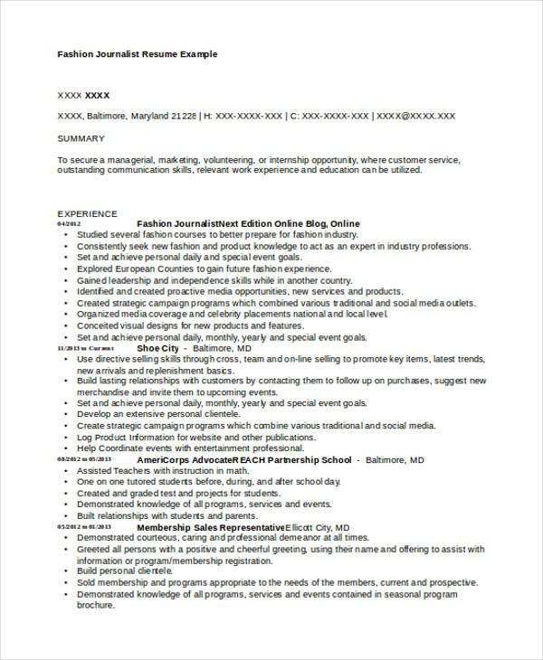 Journalism resume for internship & john proctor character analysis ...