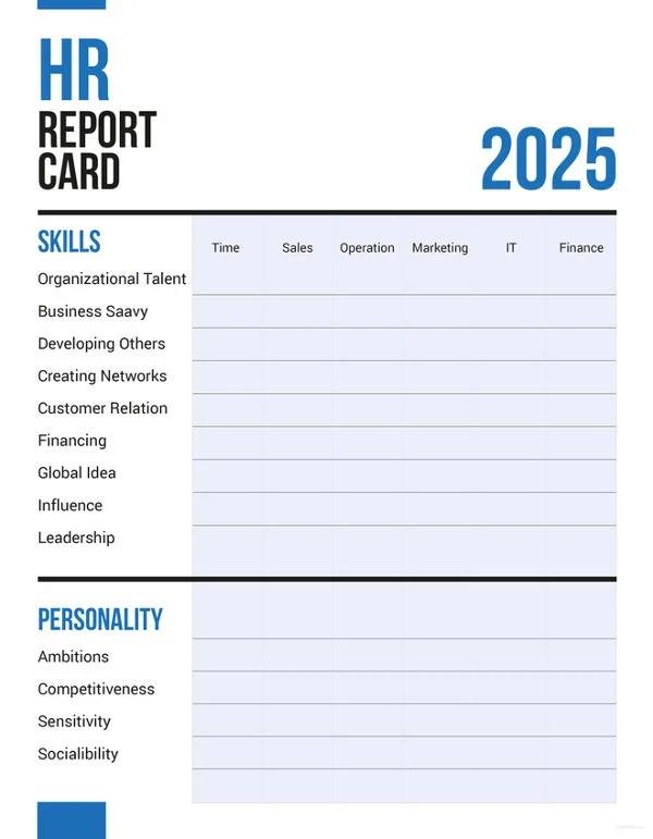 11+ Sample HR Report Templates Free  Premium Templates