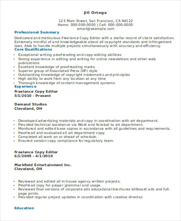 10+ Freelance Resume Templates - PDF, DOC Free  Premium Templates - freelance resume template