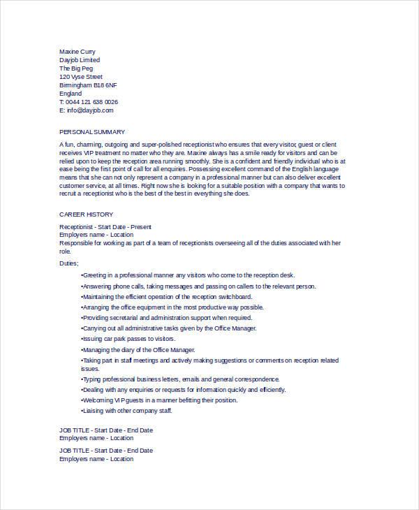 10+ General Resume Templates - PDF, DOC Free  Premium Templates - general resume template