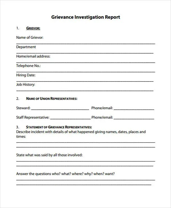 13 + Investigation Report Templates - Free PDF, Goggle Docs, Apple