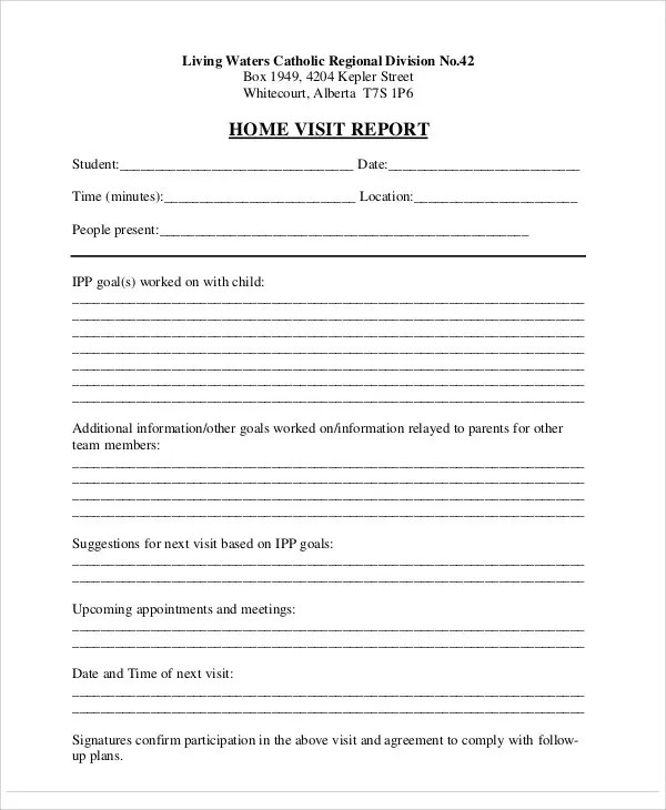15+ Visit Report Templates - Free Word, PDF, Doc , Apple Pages