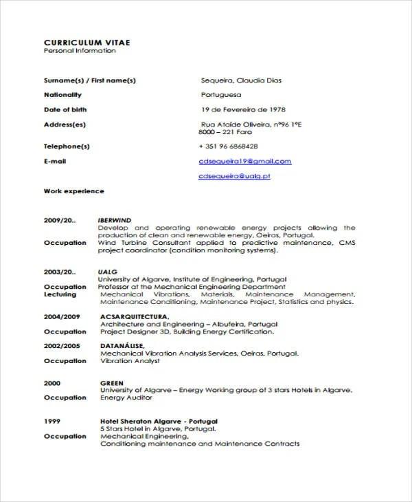 10+ Maintenance Resume Templates - PDF, DOC Free  Premium Templates