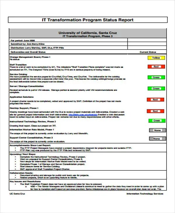 16+ IT Report Templates - Free Sample, Example Format Download