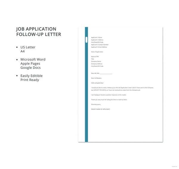 follow up after job application