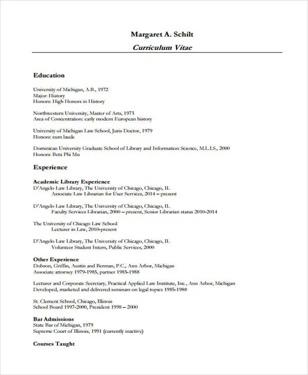 10+ Law Curriculum Vitae Templates - PDF, DOC Free  Premium Templates