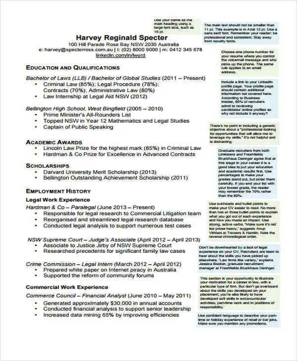 law student resume example sample