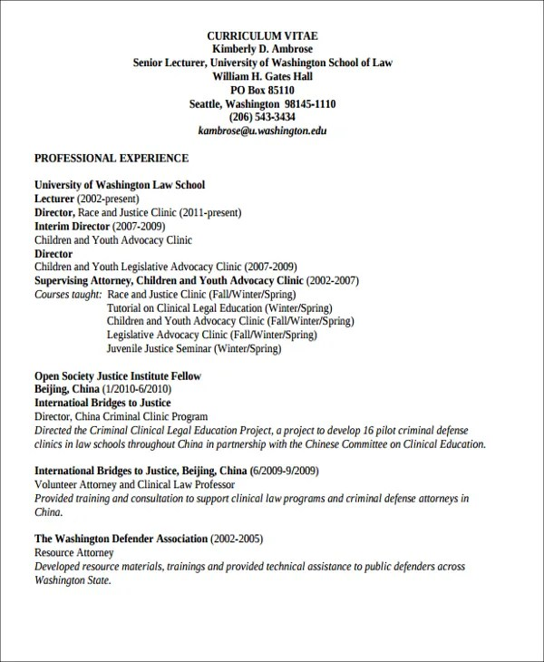 8+ Job Resume Templates - PDF, DOC Free  Premium Templates - criminal defense attorney sample resume