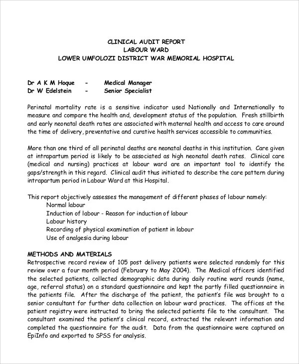 14+ Medical Report Templates - Free Sample, Example Format Download