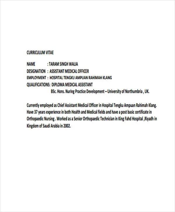 10+ Medical Curriculum Vitae Templates - PDF, DOC Free  Premium