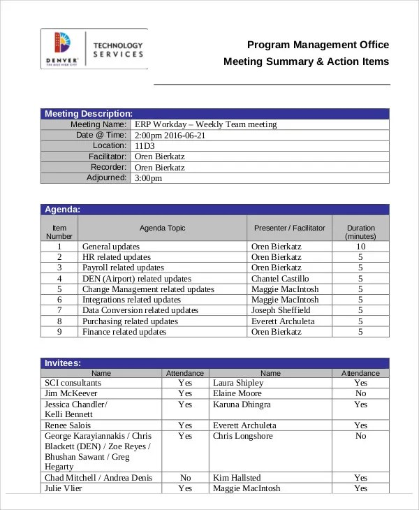 Action Agenda Templates -7+ Free Word, PDF Format Download Free