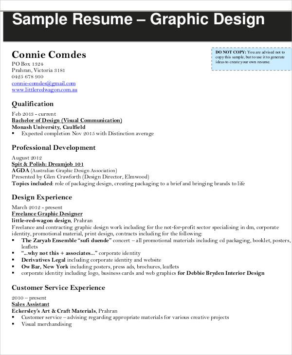 Graphic Designer Resume Template - 11+ Free Word, PDF Format - sample resume of graphic designer