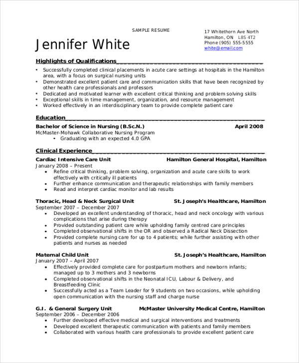 38+ Resume Format Templates Free  Premium Templates - effective resume formats