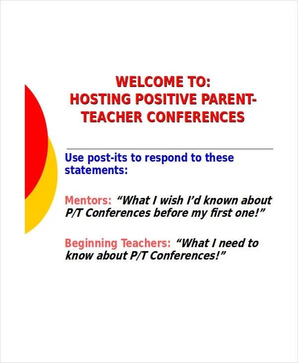 parent conference agenda - Minimfagency