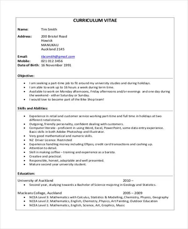 curriculum vitae cv templates download