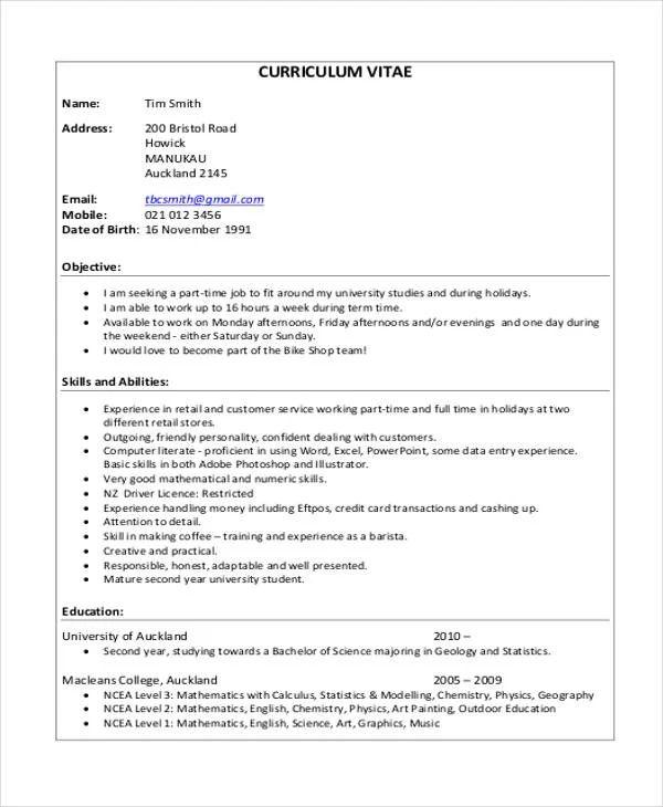 curriculum vitae cv templates download