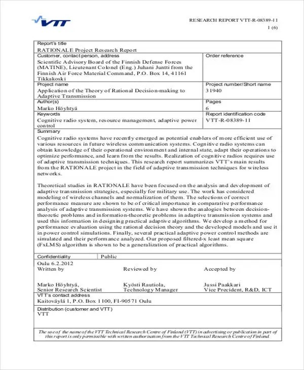 Research project report sample Coursework Writing Service - research project report