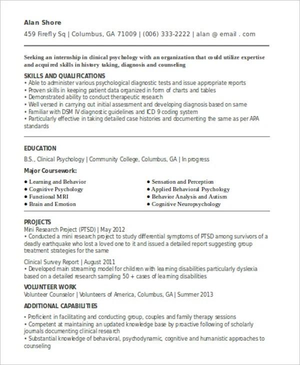 10+ Internship Curriculum Vitae Templates - PDF, DOC Free