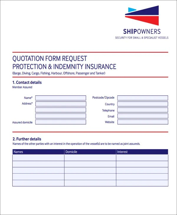 quotation form template - Price Quotation Format