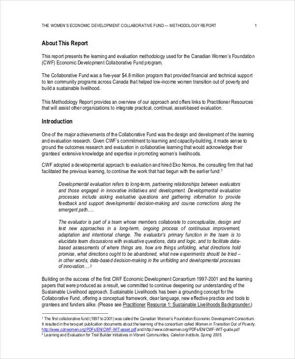 Research Report Format Templates - 9+ Free Word, Pdf - research report sample