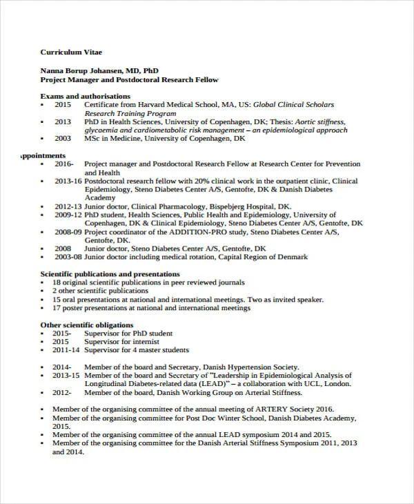 medical doctor cv resume sample
