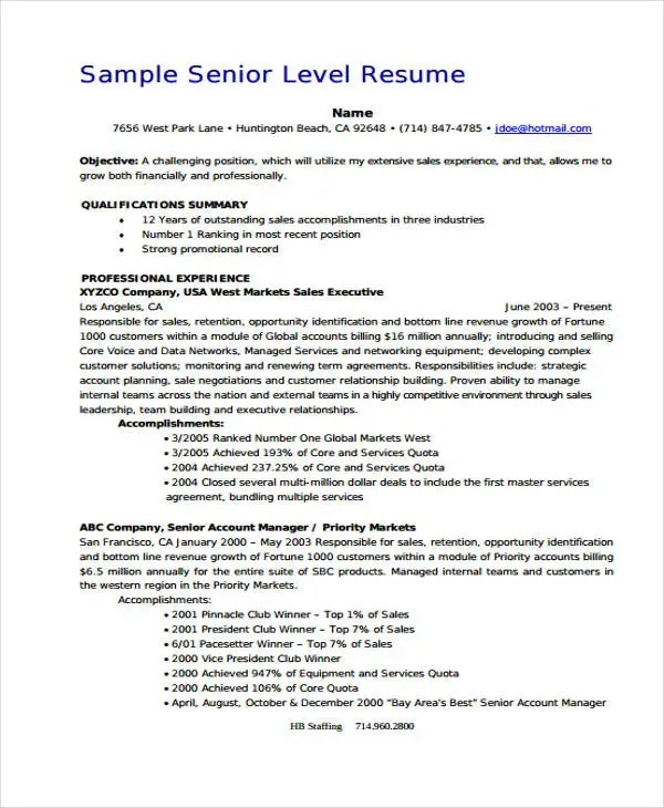 10+ Account Manager Resume Templates, Samples, Examples Format - account manager sample resume