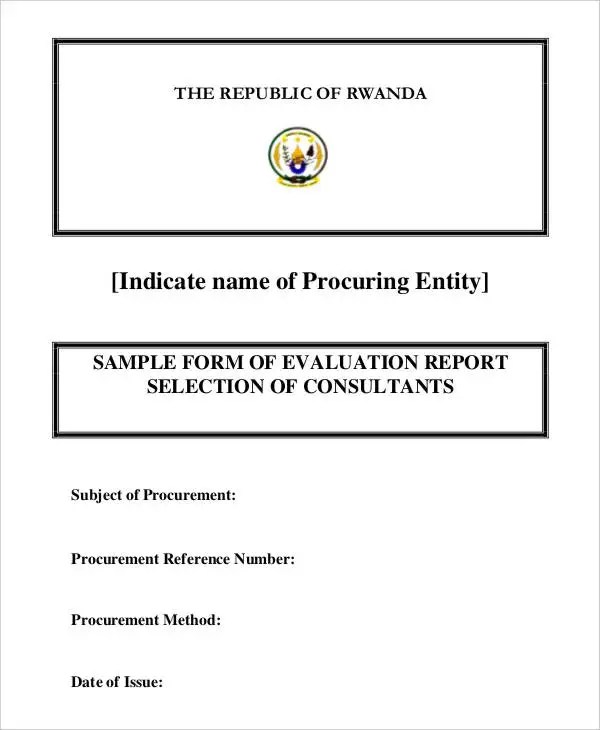 11+ Evaluation Report Templates- PDF, Word, Apple Pages Free