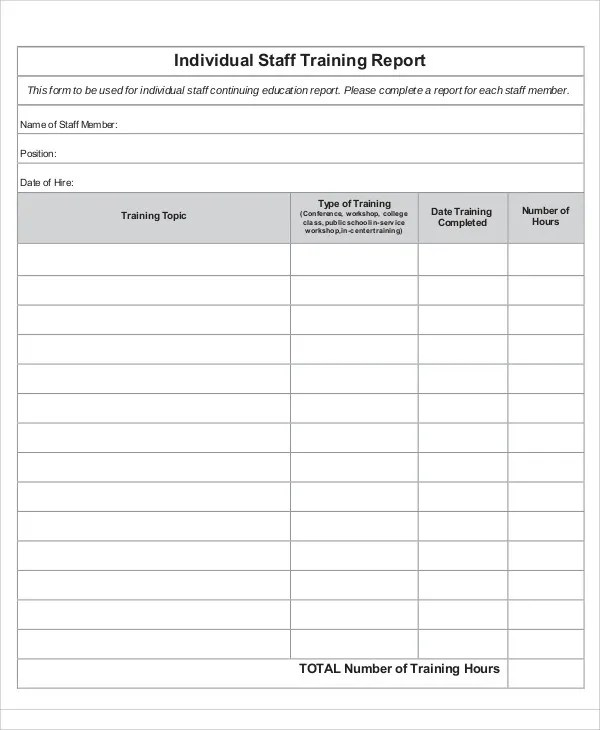 19+ Training Report Template - Free Sample, Example Format Download - training report