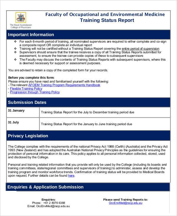 21+ Training Report Template - Word, PDF Free  Premium Templates