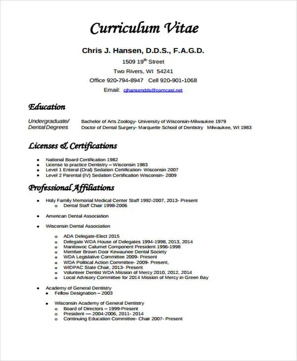 dental cv example - Josemulinohouse - dentist resume example