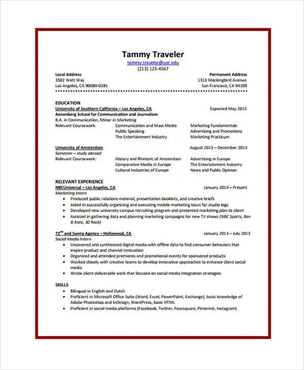 10+ Journalist Resume Templates - PDF, DOC Free  Premium Templates - digital journalist resume