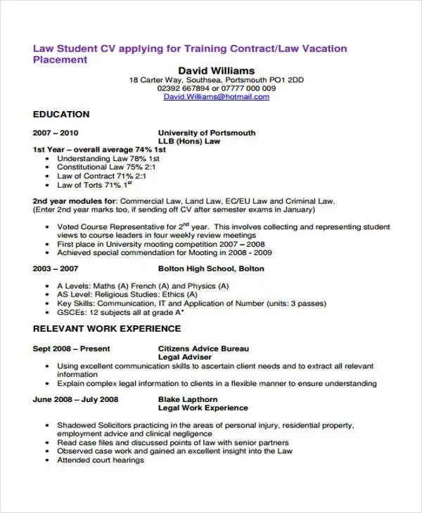 cv template for law students - Yelommyphonecompany - Law Resume Template