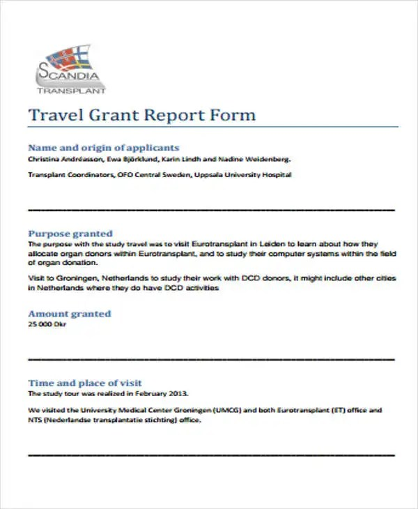 6+ Grant Report Templates - Free Word, PDF Format Download Free