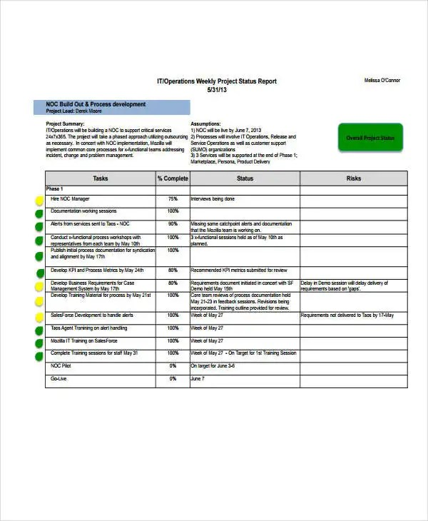 10+ IT Report Templates   Free Sample, Example Format Download   It Report  Template