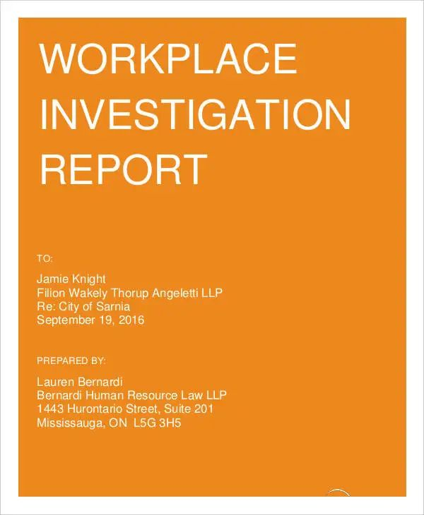 incident report templates